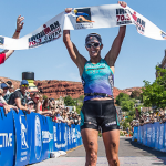 U.S. Pro Champion Meredith Kessler, Ironman 70.3 St. George. St. George, Utah, May 3, 2014 | Photo courtesy of St. George and Zion National Park Tourism, St. George News