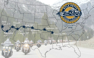Kyle Petty Charity Ride route | Image courtesy of the Kyle Petty Charity Ride, St. George News