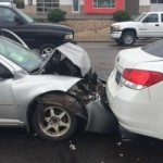 A triple-car accident occurred on Red Hills Drive in Washington when a driver allegedly wasn't paying attention to traffic ahead of her, Washington City, Utah, April 25, 2015 | Photo courtesy of Melissa Young, St. George News