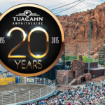 Background: Tuacahn Amphitheatre. Ivins, Utah, May 3, 2014 | File photo by Dave Amodt, St. George News