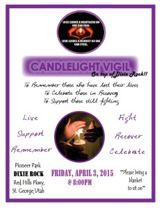 Candlelight Vigil Flyer, St. George, Utah, March 2, 2015 | Flyer courtesy of Emily Beatty, St. George News