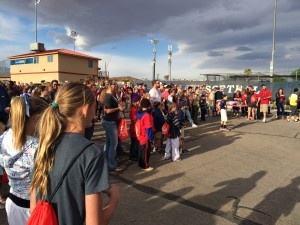 Hundreds gather for a record-breaking attempt at Dixie State University, St. George, Utah, April 16, 2015 | Photo by Cami Cox Jim, St. George News