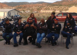 Members and supporters of the Color Country Chapter of Bikers Against Child Abuse, a members house, Cedar City, Utah, April 2015 | Photo by Carin Miller, St. George News