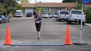 Women's 5K Fun Run winner Sandy Hulet, Iron County Children's Justice Center, Cedar City, Utah, May 16, 2015 | Photo by Shane Egan, St. George News