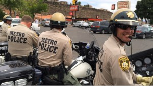 Law enforcement officers from Nevada head out on the last leg of their endurance ride, St. George, Utah, May 21, 2015 |Photo by Cami Cox Jim, St. George News