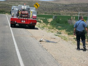 An experimental airplane crashed short of the runway in Hurricane, Saturday May 30, 2015   Photo by Ric Wayman, St. George News