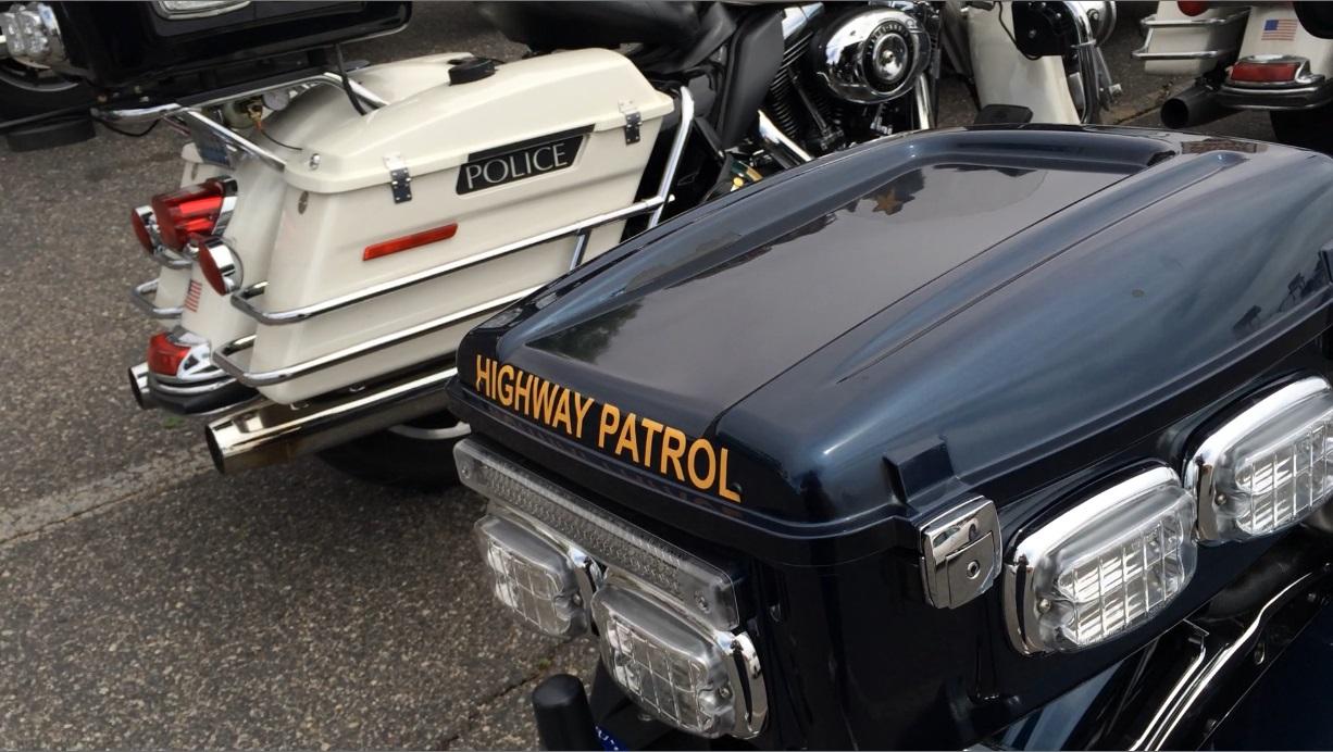 Nevada Highway Patrol and Las Vegas Metro Police motorcycles, St. George, Utah, May 21, 2015 | Photo by Cami Cox Jim, St. George News