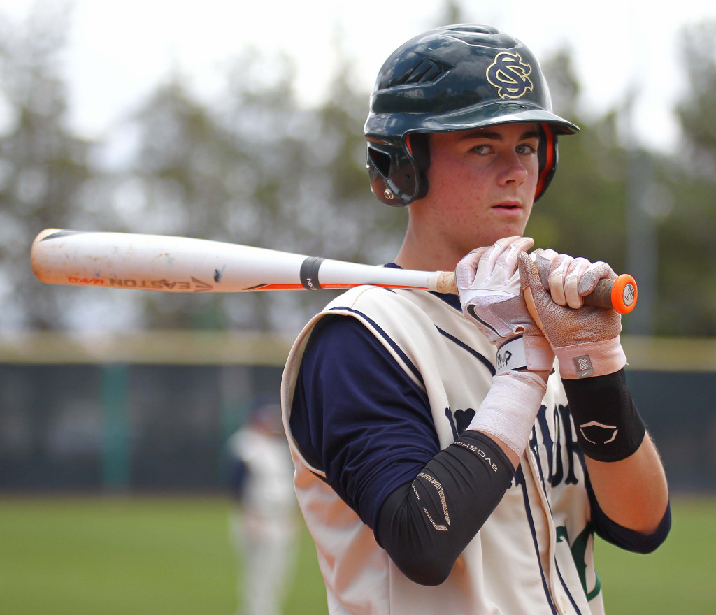 Austin Deming on deck for the Warriors, Snow Canyon vs. Carbon, Baseball, St. George, Utah, May 15, 2015 | Photo by Robert Hoppie, ASPpix.com, St. George News