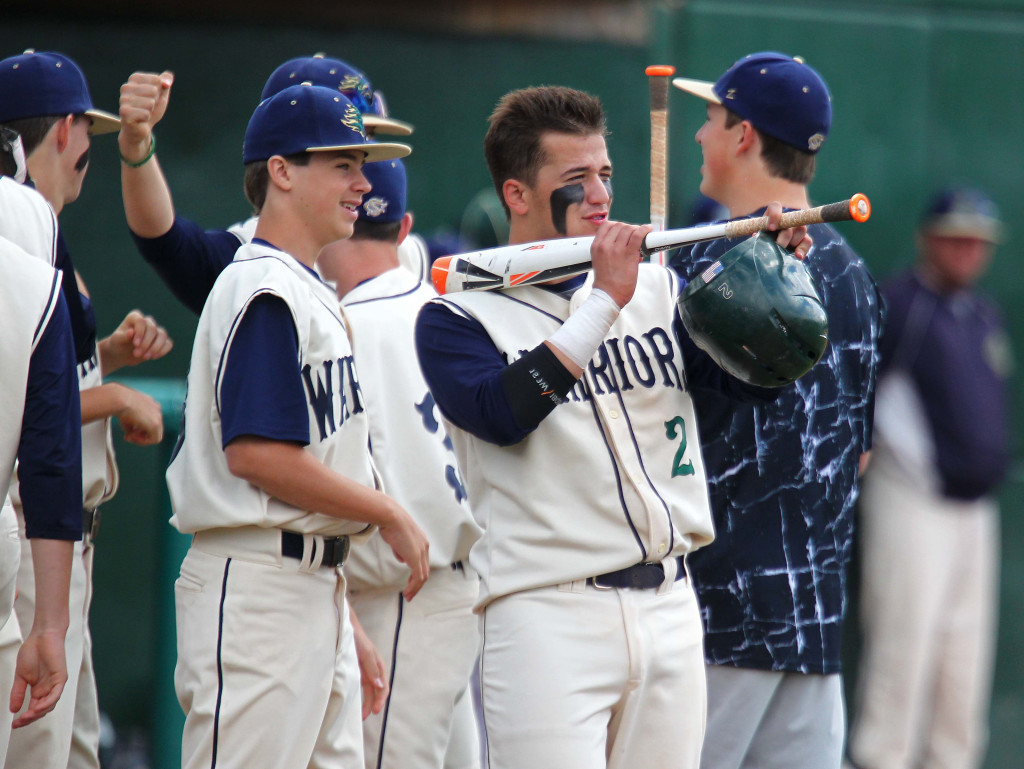 Nick Dolce (2) fires his 'bazooka' for the Warriors, Snow Canyon vs. Carbon, Baseball, St. George, Utah, May 15, 2015 | Photo by Robert Hoppie, ASPpix.com, St. George News