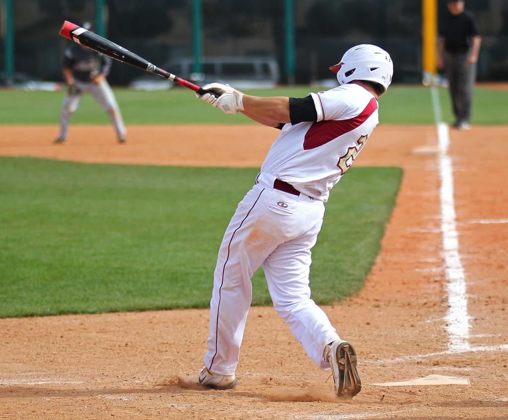 Brecken Lewis launches a solo home run for Cedar, Pine View vs. Cedar, Baseball, St. George, Utah, May 15, 2015 | Photo by Robert Hoppie, ASPpix.com, St. George News