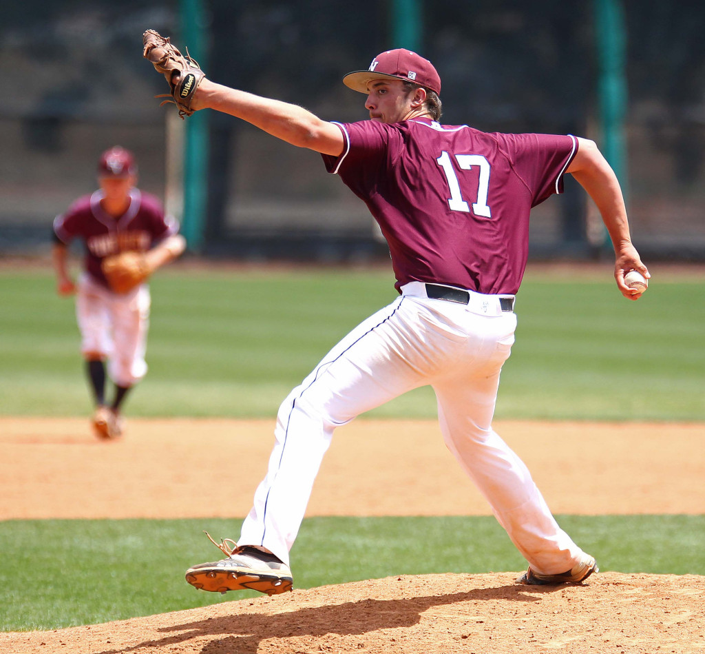 Dakota Donovan (17) pitched a shutout Saturday, file photo from Pine View vs. Cedar, 3A State Baseball Championship Game, St. George, Utah, May 16, 2015 | Photo by Robert Hoppie, ASPpix.com, St. George News