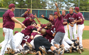 The Panthers celebrate their State Championship win over Cedar, May 16, 2015 | Photo by Robert Hoppie, ASPpix.com, St. George News