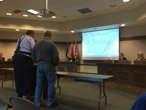 Members of the City Council listen to issues from community members with the development of a new hotel, Cedar City, Utah, May 27, 2015 | Photo by Nataly Burdick, St. George News