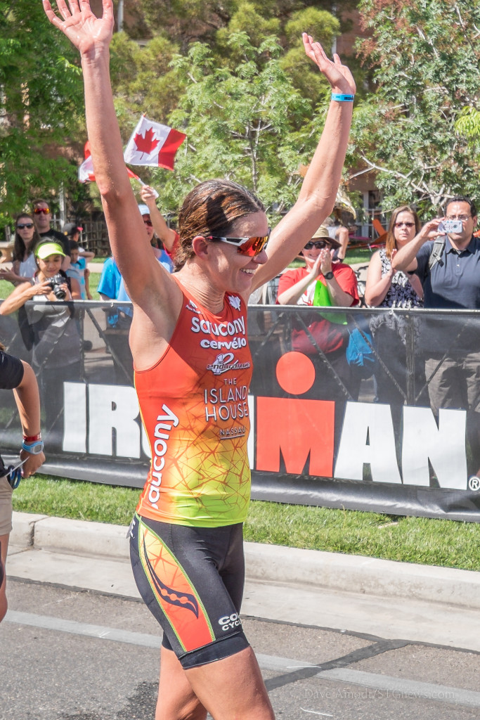 Heather Wurtele, 1st place women's pro. Ironman 70.3 St. George, St. George, Utah, May 2, 2015 | Photo by Dave Amodt, St. George News