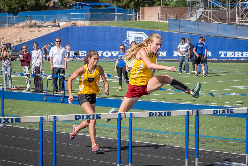 Region 9 track and field championships at Dixie High, St. George, Utah,  May 6, 2015 | Photo by Dave Amodt, St. George News