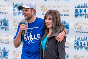 L-R: Justin Osmond with aunt, and celebrity, Marie Osmond.