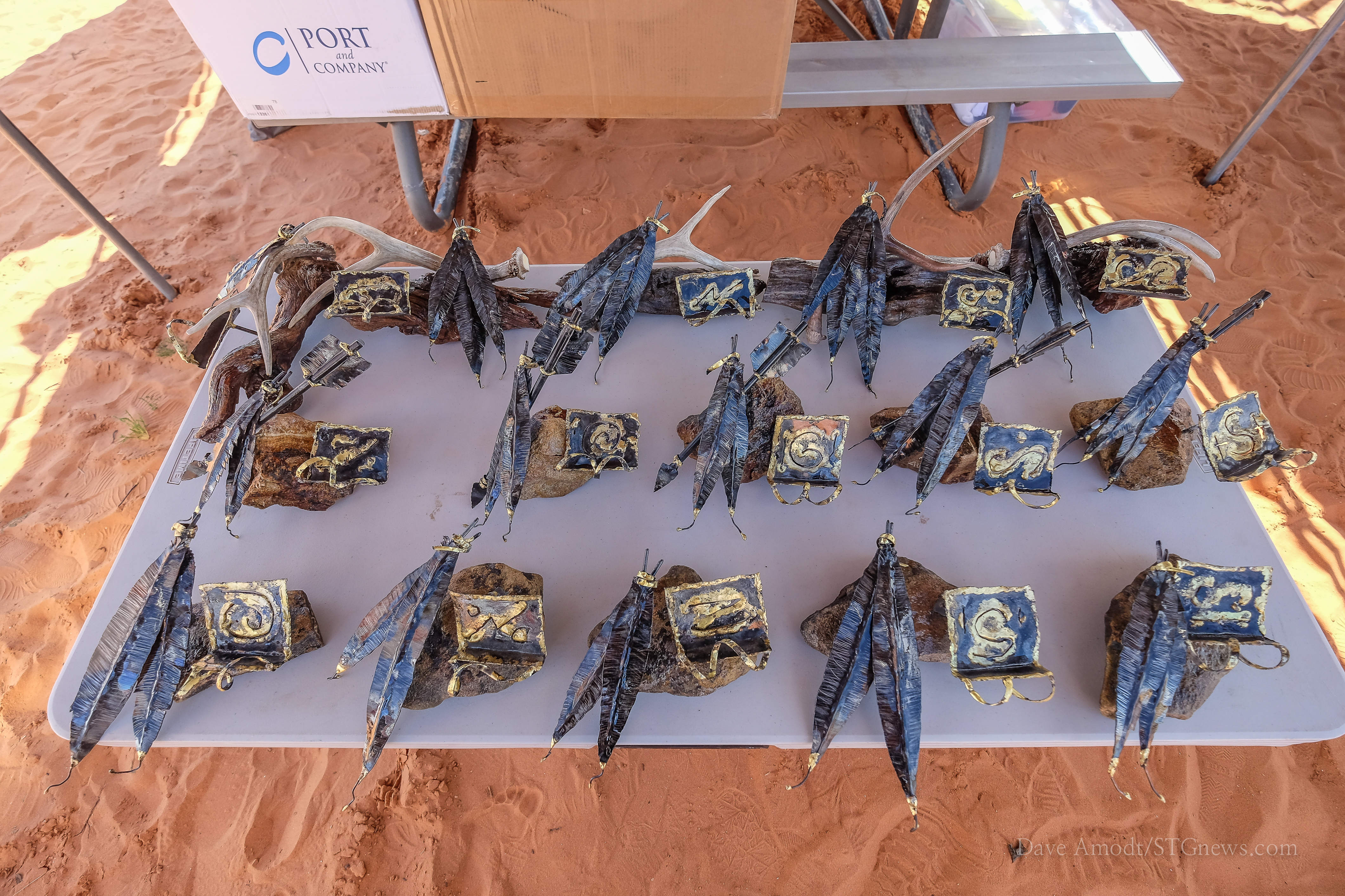 Trophies in wait for winners in the Third Annual Sand Hollow Sailing Classic at Sand Hollow Reservoir, Hurricane, Utah, May 17, 2014 | Photo by Dave Amodt, St. George News