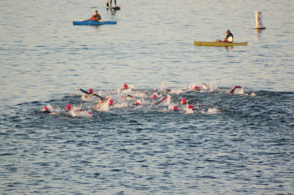 Calm Waters Sunblock Swim Caps Ironman 70 3 Swim Start Stgnews Photo Gallery St George News