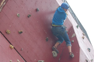 Guests can practice their climbing skills on the recreation building's climbing walls at Zion Ponderosa Ranch Resort, Mount Carmel, Utah, May 18, 2015 | Photo by Hollie Reina, St. George News