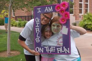 L-R Aimee Bonham, Kortney Bonham and Fiona Bonham take a photo before the start of the Girls on the Run 5K held in St. George Town Square, St. George, Utah, May 22, 2015 | Photo by Hollie Reina, St. George News