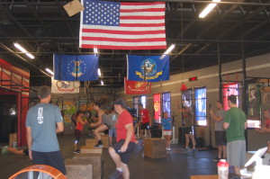 Team Red, White and Blue joins CrossFit St. George in a memorial day fitness tribute to fallen soldiers, St. George, Utah, May 25, 2015 | Photo by Hollie Reina, St. George News