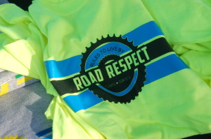 In this photo from 2015, Road Respect shirts are given away as prizes at the Santa Clara Bike Fest and Road Respect Tour, Santa Clara, Utah, May 28, 2015 | Photo by Hollie Reina, St. George News
