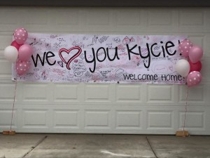 Kycie Terry homecoming, St. George, Utah, May 14, 2015 | Photo courtesy of Kisses for Kycie, St. George News