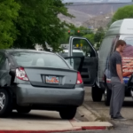 Two-vehicle accident Monday at 500 South and Main Street, St. George, Utah, May 3, 2015 | Photo by Julie Applegate, St. George News