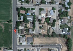 Image depicts area where a teen was struck and killed by a truck late Wednesday night, Hurricane, Utah | Photo courtesy of Google Earth, St. George News