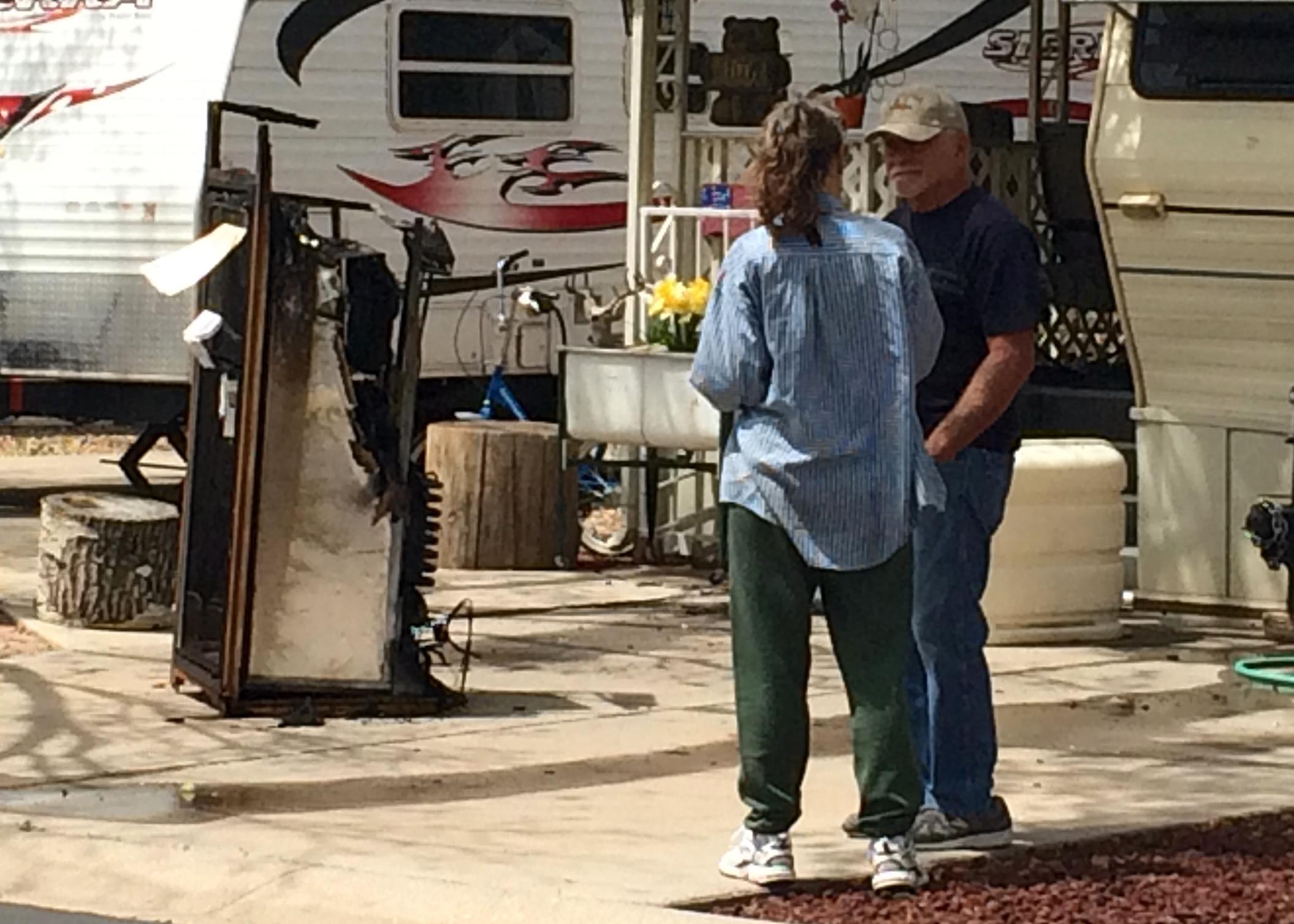 Mobile Home Fire Foothills RV Subdivision Parowan Utah May 12 2015