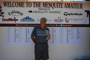 The overall winner of the 2014 Mesquite Amateur golf tournament, John Cimaroli from Libertyville, Illinois, Mesquite, Neavada, 2014 | Photo by Tyler Cooper of Mesquite Gaming, St. George News