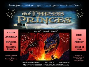 """Flyer for """"The Three Princes"""" producation 
