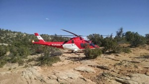 Life Flight assists in a search and rescue mission, Snow Canyon State Park, Utah, May 19, 2015 | Photo courtesy of Washington County Search and Rescue, St. George News