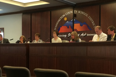 The Washington County School Board meets in the district offices, St. George, Utah, May 12, 2015 | Photo by Nataly Burdick, St. George News