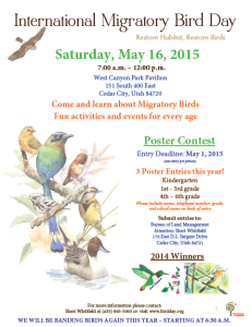 International Migratory Bird Day Festival flyer | Photo courtesy of the Bureau of Land Management, St. George News