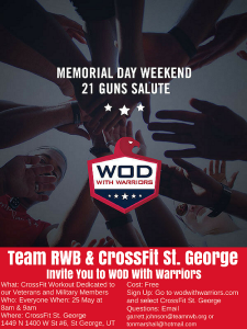 WOD with Warriors flyer, location and date not specified | Flyer courtesy of Garrett Johnson, Team Red, White and Blue, St. George News Click image to enlarge