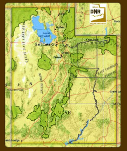 Greater sage-grouse management areas in Utah | Image courtesy of Utah Department of Natural Resources