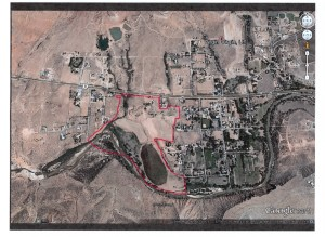 A map marking the boundaries of the Munn property in Virgin | Exhibit from legal complaint