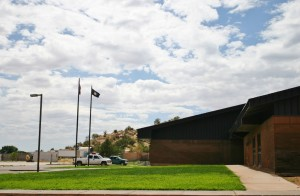 Grass goes in at the Water Canyon School  prior to its reopening, Hildale, Utah, July 2014 | Photo by Cami Cox Jim, St. George News