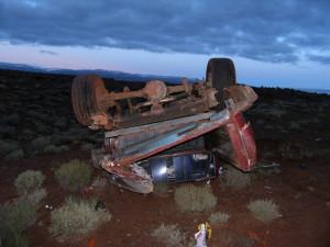 Scene of fatal accident in Wayne County, Utah, May 24, 2015 | Photo courtesy of Utah Highway Patrol, St. George News