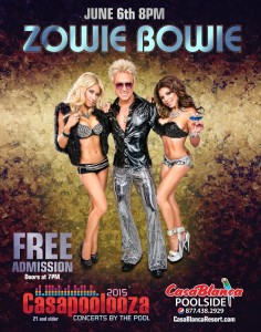 Casapoolooza Zowie Bowie flyer, location and date not specified | Flyer courtesy of Mesquite Gaming, St. George News