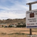 Sign at the site of the proposed Boulder Creek Crossing commercial center, St. George, Utah, May 4, 2015 | Photo by Mori Kessler, St. George News