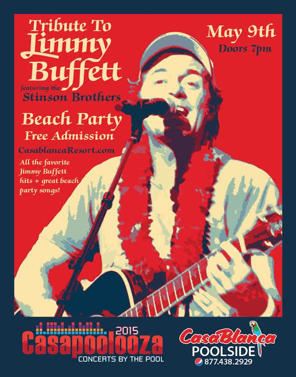 Flyer, Casapoolooza Jimmy Buffet Tribute and Beach Party at the CasaBlanca Resort and Casino, Mesquite Nevada, date not specified | Image courtesy of Mesquite Gaming, St. George News