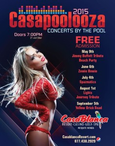 Casapoolooza 2015 schedule, Mesquite, Nevada, date not specified |Image Courtesy of Mesquite Gaming, St. George News