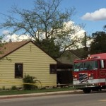 A Cedar City Fire Department truck is parked in front of the house where the incident took place, Cedar City, Utah, May 29, 2015 | Photo by Emily Hammer, St. George News