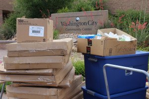 Emergency preparedness donations for the Washington City Community Center, Washington, Utah, May 20, 2015 | Photo by Nataly Burdick, St. George News