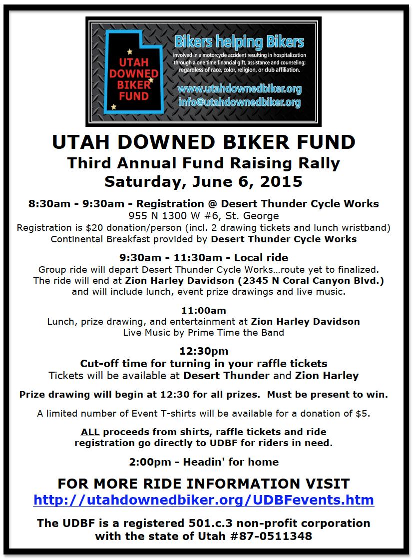 Event flyer | Image courtesy of Utah Downed Biker Fund, St. George News | Click on image to enlarge