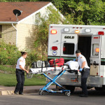 Gold Cross Ambulance responds to a possible secondary drowning incident, St. George, Utah, May 30, 2015 | Photo by Nataly Burdick, St. George News
