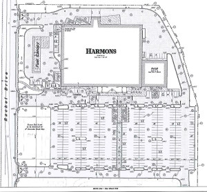 Site plan for Harmons Neighborhood Grocer coming to Santa Clara | Image courtesy Santa Clara City