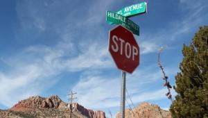 Hildale Avenue street sign, Hildale, Utah, Feb. 6, 2015 | Photo by Leanna Bergeron, St. George News